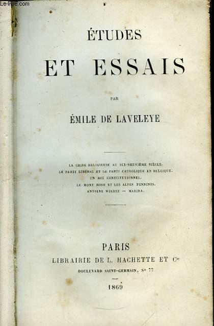 Etudes et Essais.