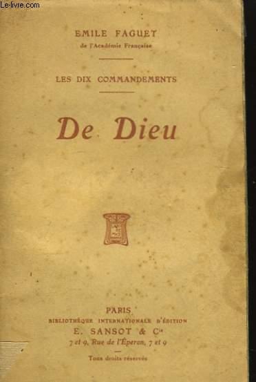 Les Dix Commandements. De Dieu.