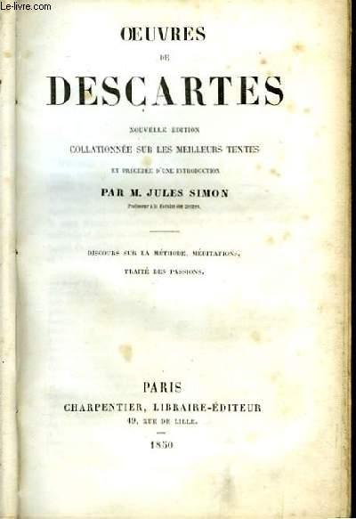 Oeuvres de Descartes.