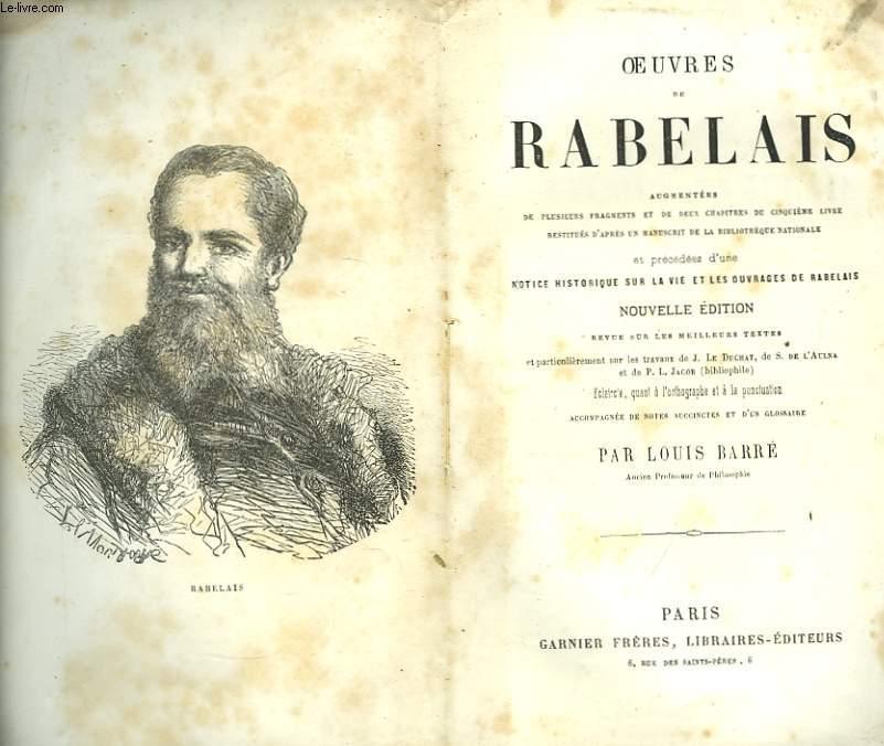 Oeuvres de Fr. Rabelais.