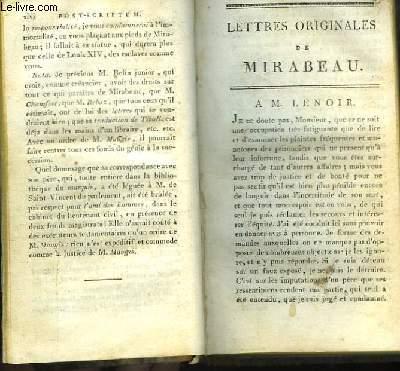 Lettres Originales. TOME Ier