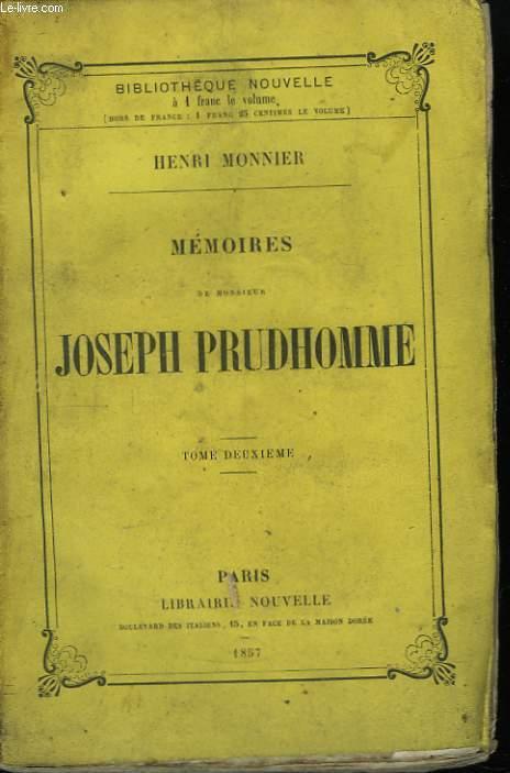 Mémoires de Monsieur Joseph Prudhomme. TOME II