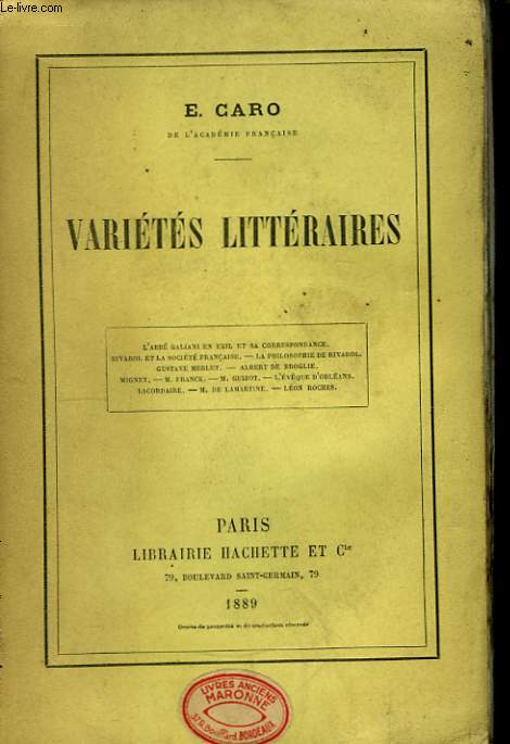 Variétés Littéraires.