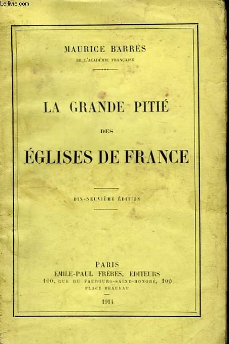La grande pitié des Eglises de France.