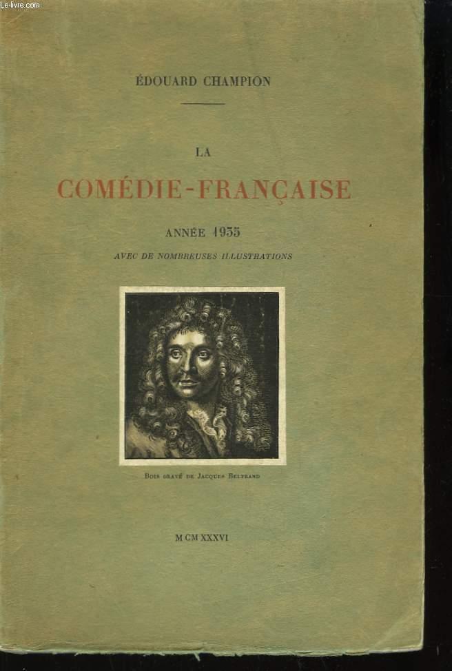 La Comédie-Française. Année 1935