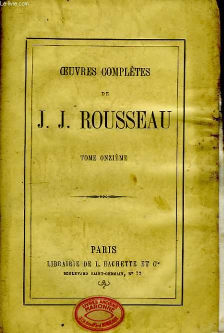 Oeuvres Complètes de J.J. Rousseau. TOME XI