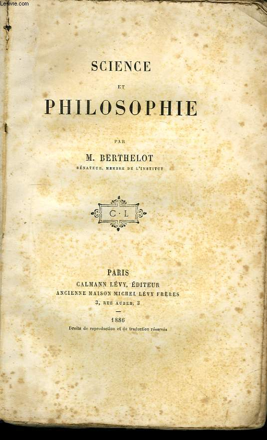 Sciences et Philosophie