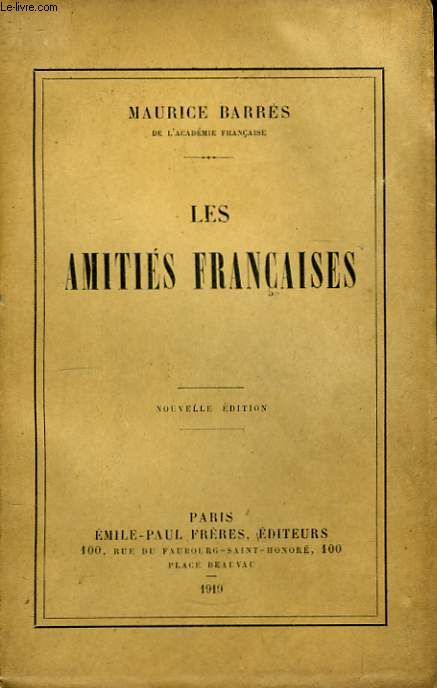 Les Amitiés Françaises.