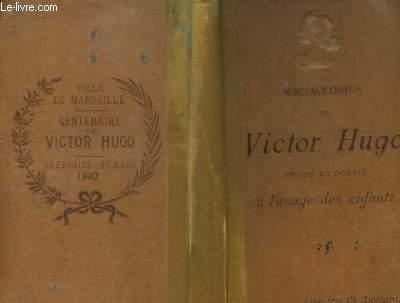 Morceaux choisis de Victor Hugo.
