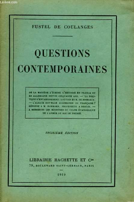 Questions Contemporaines.