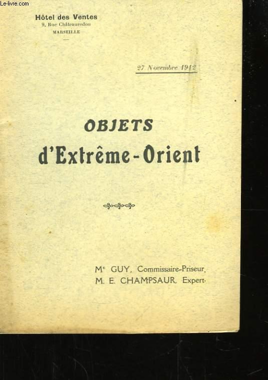 Objets d'Extrême-Orient.