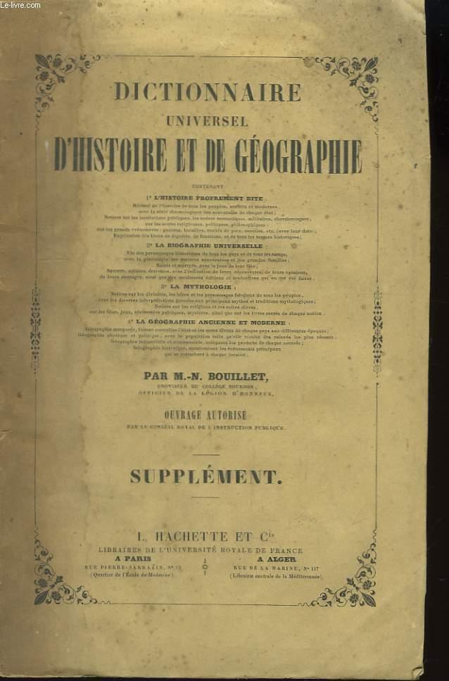 Dictionnaire Universel d'Histoire et de Géographie. Supplément.