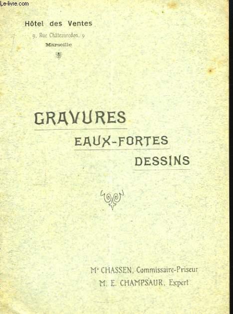 Gravures, Eaux-Fortes, Dessins.