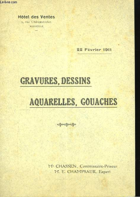 Gravures, Dessins, Aquarelles, Gouaches.