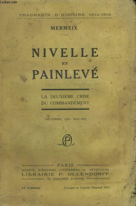 Nivelle et Painlevé.