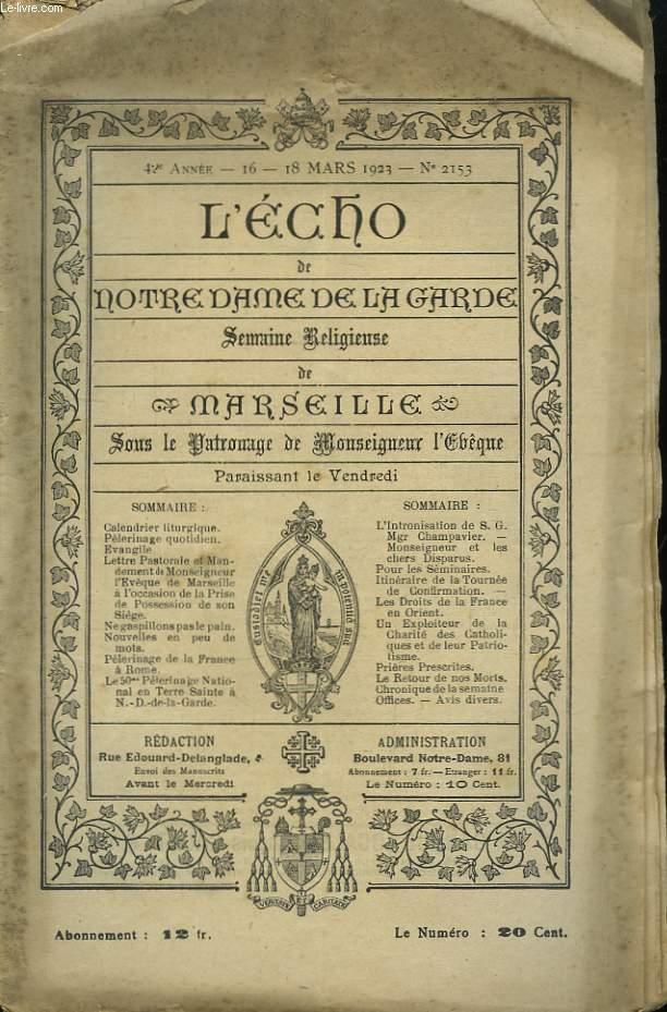 L'Echo de Notre-Dame de la Garde. N°2153 - 42ème année