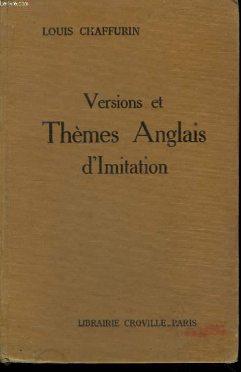 Versions et Thèmes Anglais d'Imitation.