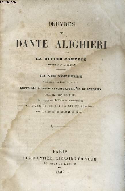Oeuvres de Dante Alighieri.