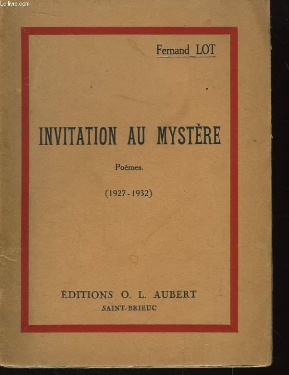 Invitation au Mystère (1927 - 1932)