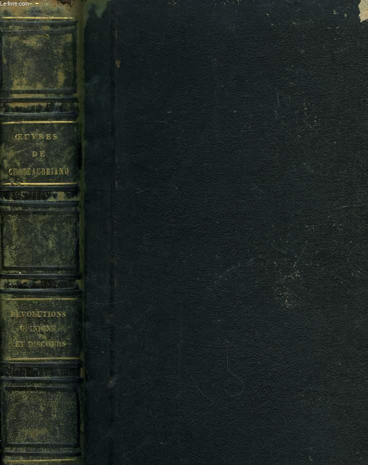 Oeuvres de Chateaubriand. Révolutions anciennes et modernes. 2 Tomes en un seul volume.