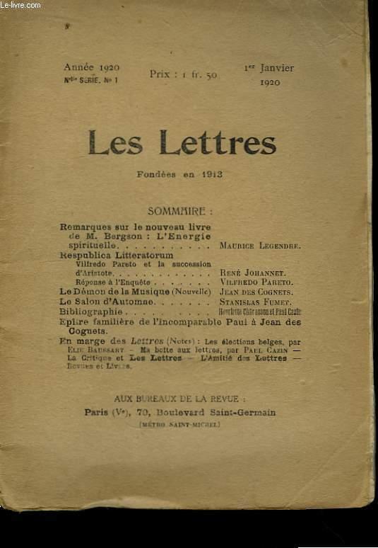 Les Lettres. N°1