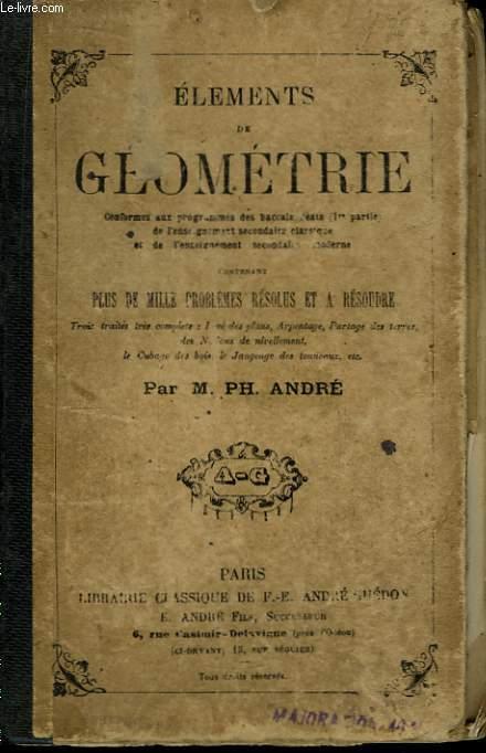 Eléments de Géométrie.