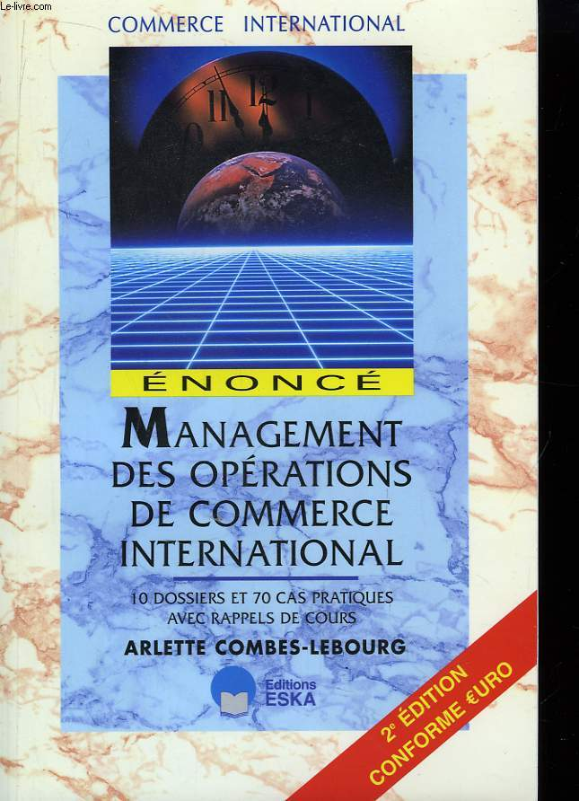 Management des opérations de commerce international. Enoncé