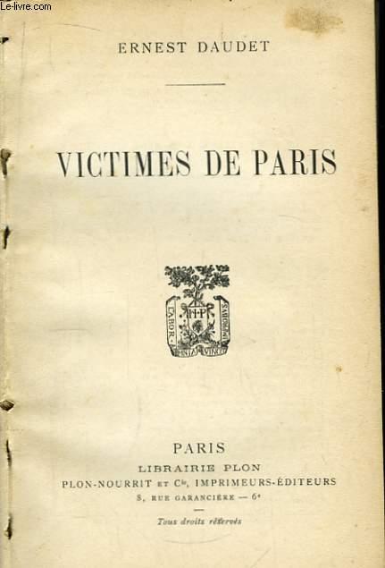 Victimes de Paris.