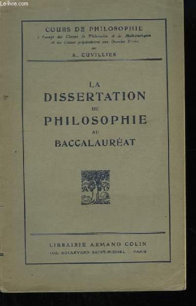 La dissertation de philosophie au baccalauréat.