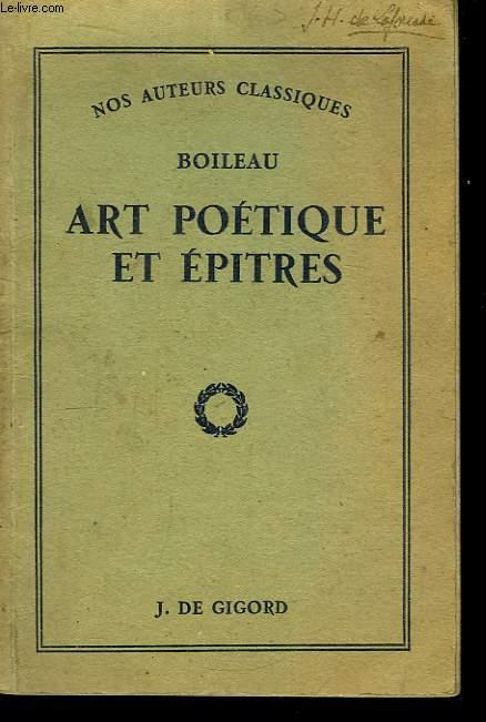 Art Poétique et Epitres.  Epitre VII - Epitre IX