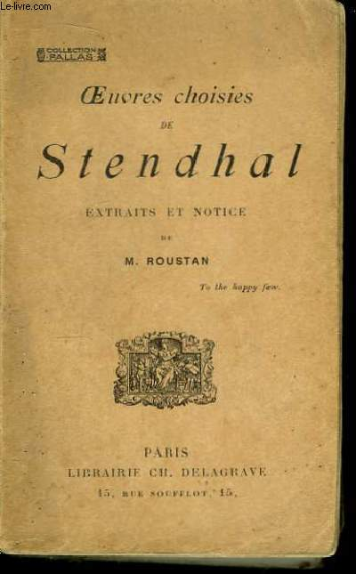 Oeuvres Choisies de Stendhal