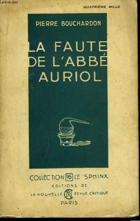 La Faute de l'Abbé Auriol