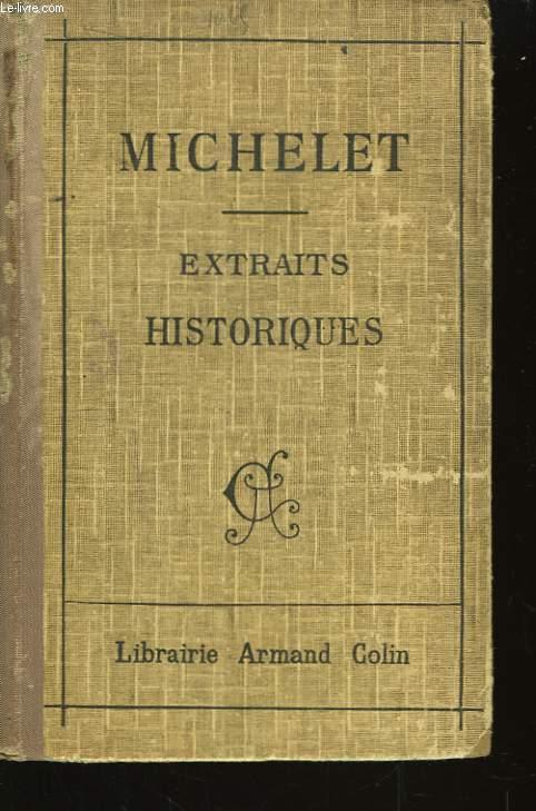 Extraits Historiques de J. Michelet.
