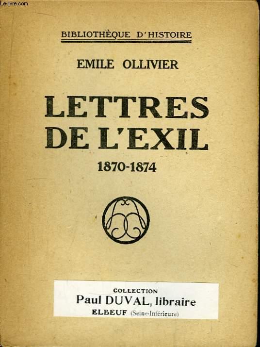 Lettres de l'Exil 1870 - 1874