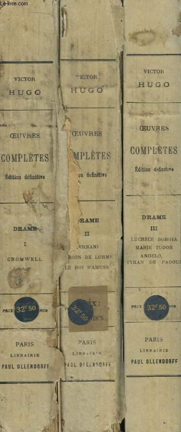 Oeuvres Complètes de Victor Hugo. Drames. En 3 TOMES