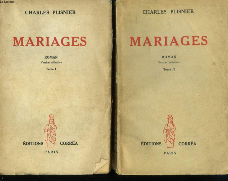 Mariages. En 2 TOMES