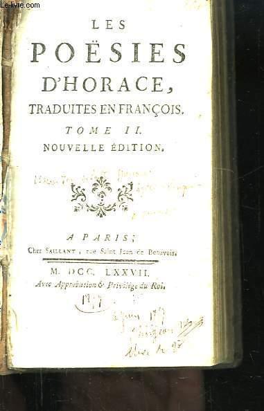 Les Poésies d'Horace. TOME II