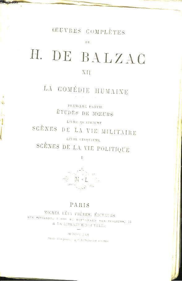Oeuvres Complètes de H. de Balzac. TOME XII : La Comédie Humaine.