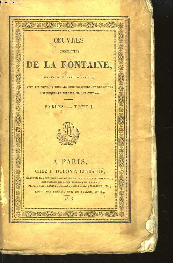Oeuvres complètes de La Fontaine. TOME 1, Fables 1ère partie.