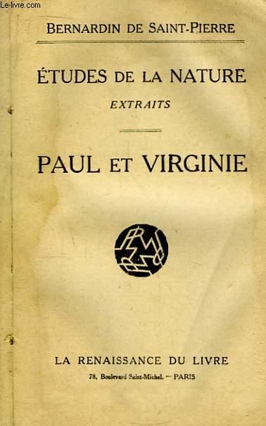 Etudes de la Nature. Extraits - Paul et Virginie