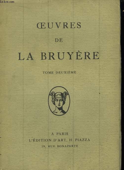 Oeuvres de La Bruyère. TOME II