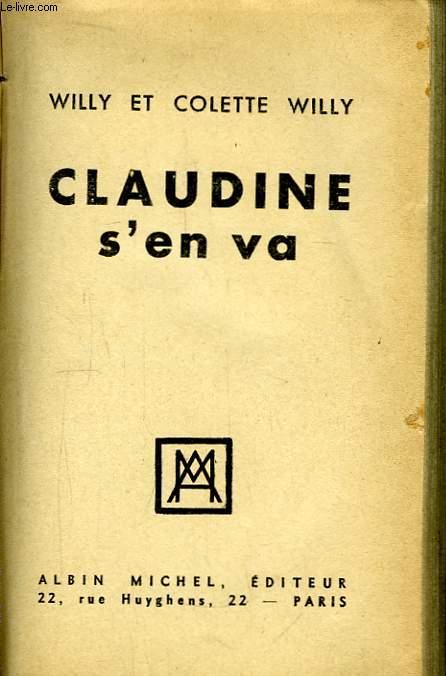 Claudine s'en va.