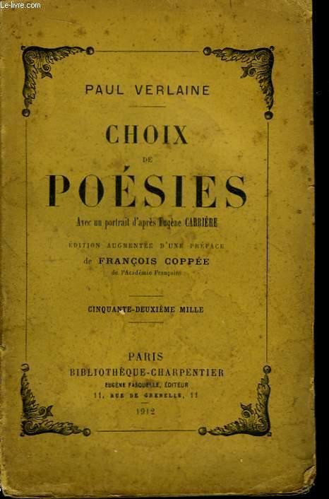 Choix de poésies.