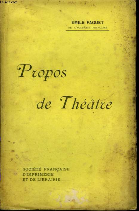 Propos de Théâtre.