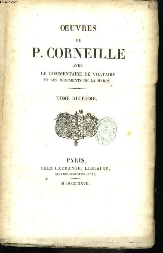 Oeuvres de P. Corneille. Tome 8