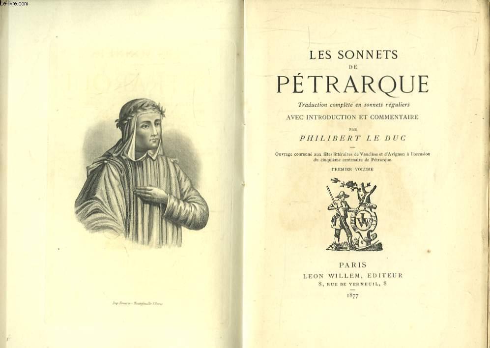 Les Sonnets de Pétrarque. en 2 TOMES