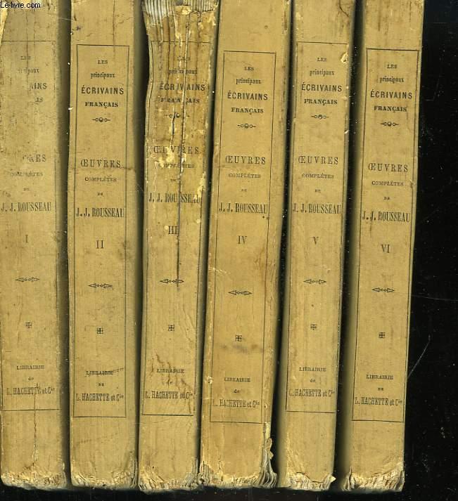 Oeuvres Complètes de J.J. Rousseau. Tome 1 à 6.