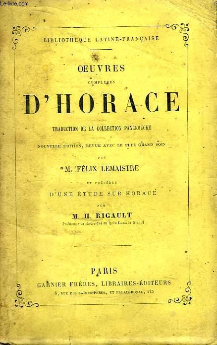Oeuvres Complètes d'Horace.