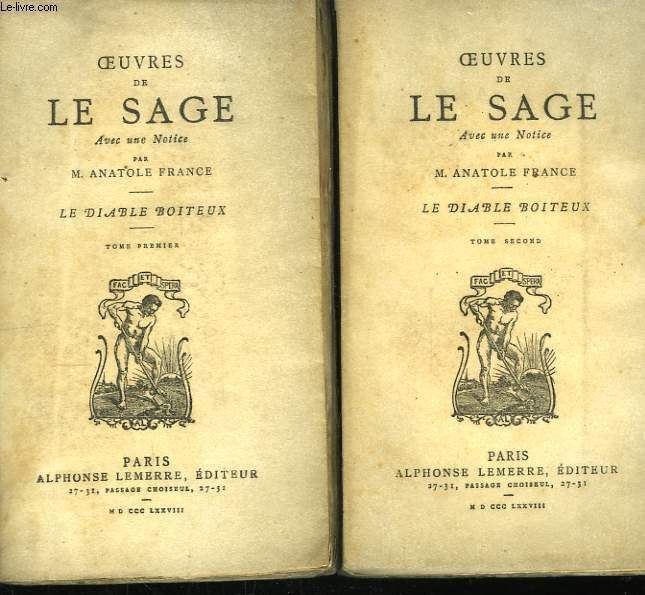 Oeuvres de Le Sage. Le Diable Boiteux. En 2 TOMES