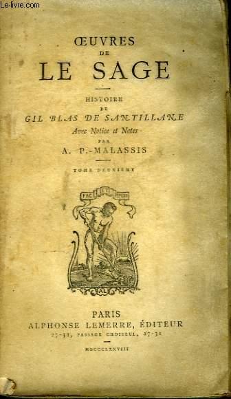 Oeuvres de Le Sage. Histoire de Gil Blas de Santillane. TOME 2nd